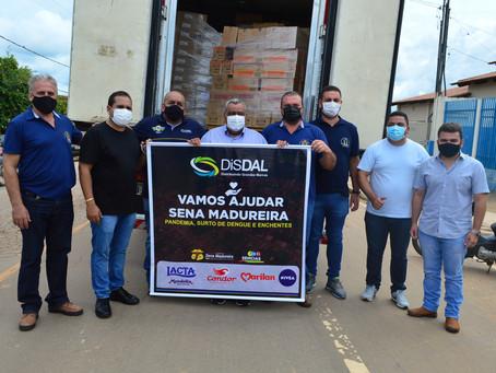 Prefeitura recebe doação de mais de 05 toneladas de donativos, do grupo Disdal