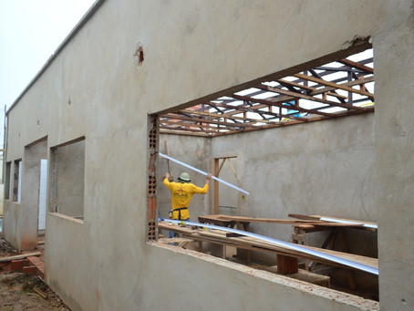 Prefeitura segue avançando com as obras do novo prédio do CRAS em Sena Madureira