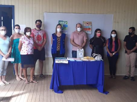 Prefeitura realiza ação de educação em saúde na escola Leonice Bregence