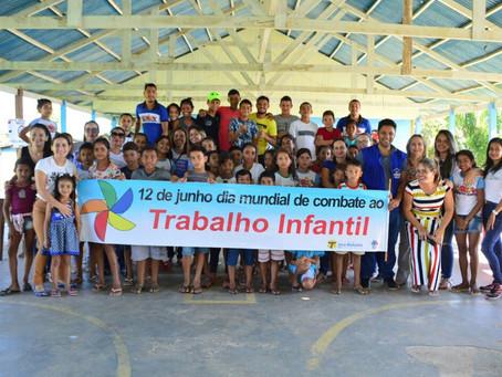 Assistência Social de Sena Madureira reúne crianças em programação de combate ao trabalho infantil