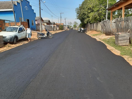 Rua Luiza Costa Figueiredo Recebe Pavimentação  por meio da parceria entre Prefeitura e Estado