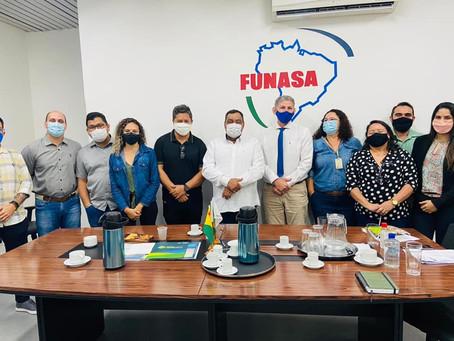 Mazinho Serafim e secretário de Meio Ambiente se reúnem com representantes da FUNASA e IMAC