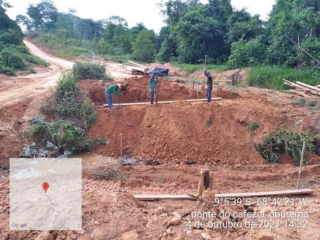 Prefeitura inicia construção da Ponte do Ramal Xiburema