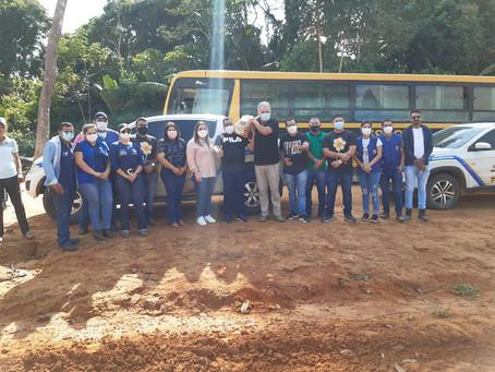 Prefeito Mazinho e Senador Sérgio Petecão prestigiam ação do Saúde Itinerante na zona rural