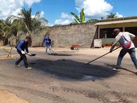 Prefeitura realiza operação Tapa Buracos ao longo da Avenida Guanabara