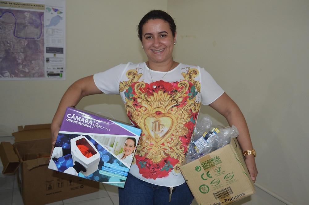 Drª Shel Silva, Coordenadora do Saúde Bucal (Foto: Lucas Costa/ASCOM)
