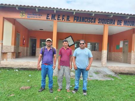 Secretário de Educação Altemir Lira visita Escola no Rio Caeté