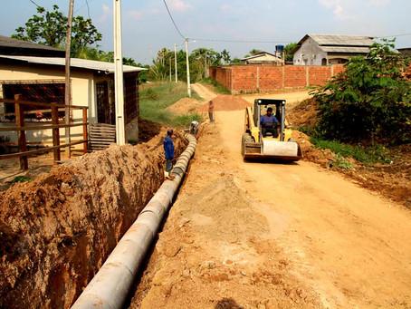 Moradores da Rua Beija-Flor são contemplados com serviço de drenagem por parte da Prefeitura