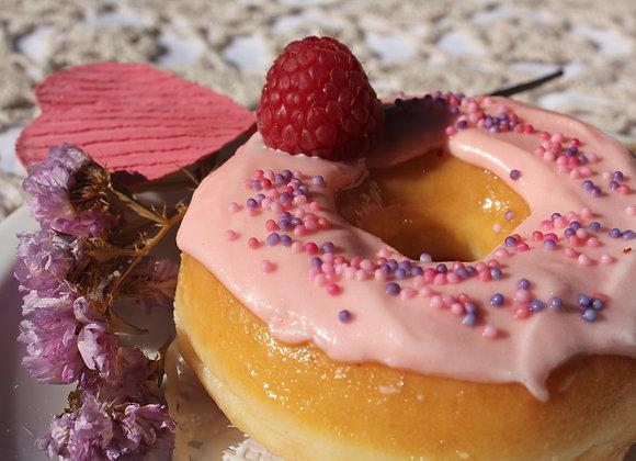 Donut de framboesa