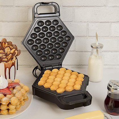 Bubble Waffle Maker- Electric Non stick Hong Kong Egg Waffler Iron Griddle