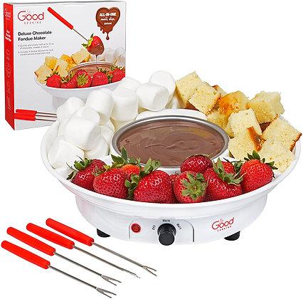 Chocolate Fondue Maker- Deluxe Electric Dessert Fountain Fondu Pot Set