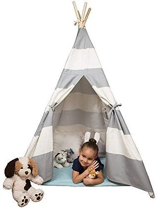 Svan Kids Canvas Teepee Tent - 5 ft Tall Play Tent for Boys & Girls