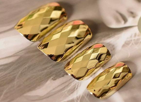 Gold Metallic Press on Nail