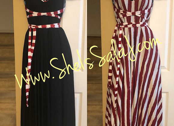Black and Red/White Reversible Maxi