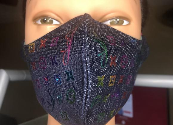 Personal Initial Designer Swag Mask