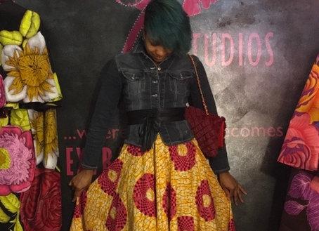 Maxi circle skirt size large