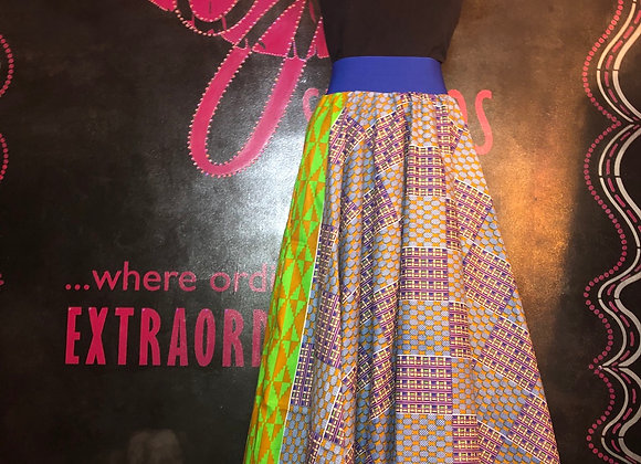 Maxi circle skirt w/pockets
