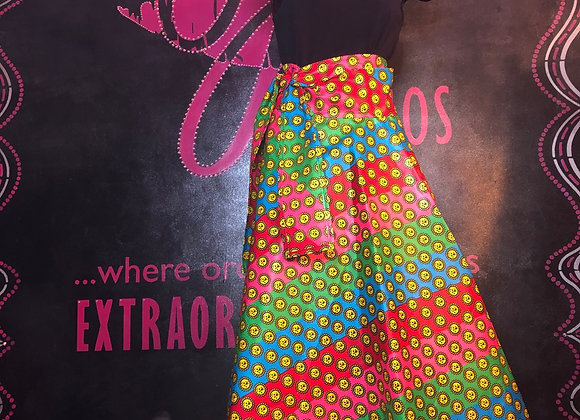 Ankara Maxi wrap skirt