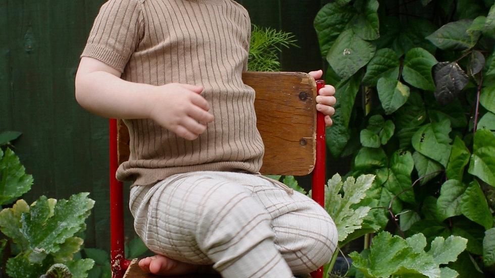 Mabli Caswell Willow Skinny Rib Short Sleeve