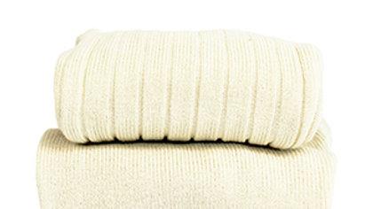 Condor Cream  Cotton Rib Tights