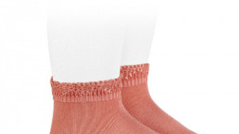 Peony Condor Cotton Open Cuff Work Ankle Socks