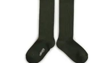 Collegien Josephine Cotton Lace Trim Socks -Forest Green