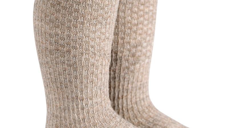Condor Oatmeal Wool Blend Knee High Socks