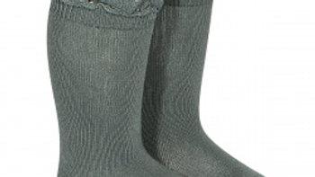 Condor Lichen Cotton Lace Knee High Socks