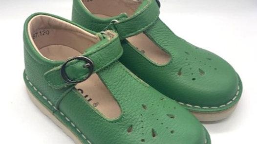 Petasil Pea Green Andrea T Bar Shoe