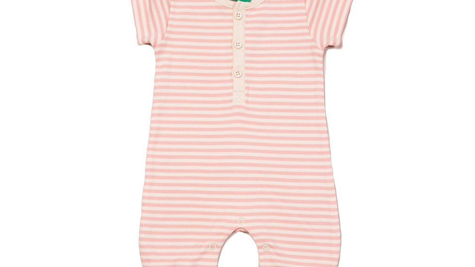 Little Green Radicals Pink and Cream Stripe Shortie