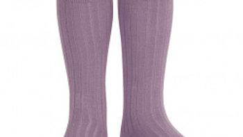 Condor Amethyst Knee High Cotton Rib Socks