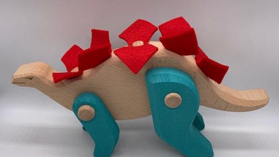 Wooden Stegosaurus