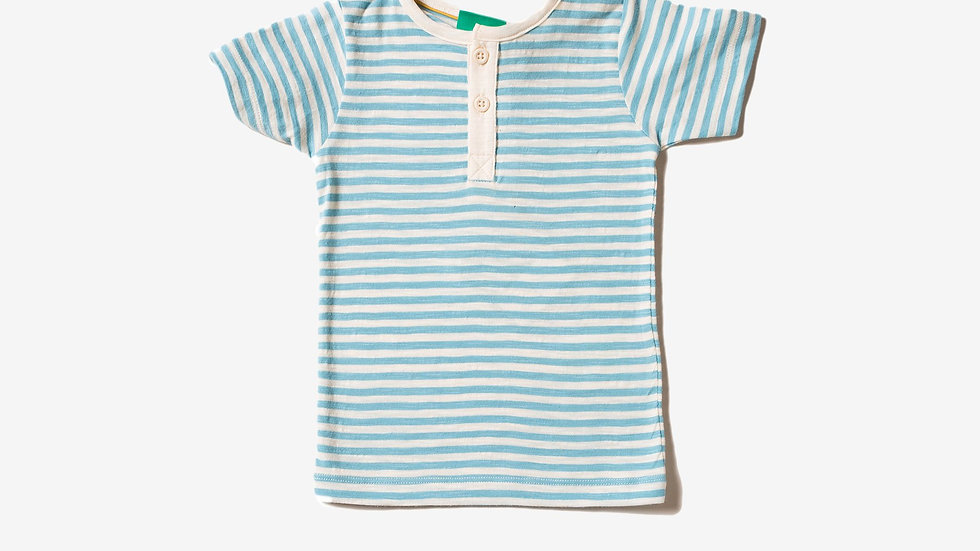 Little Green Radicals Cornish Blue Stripe Short Sleeve T Shirt