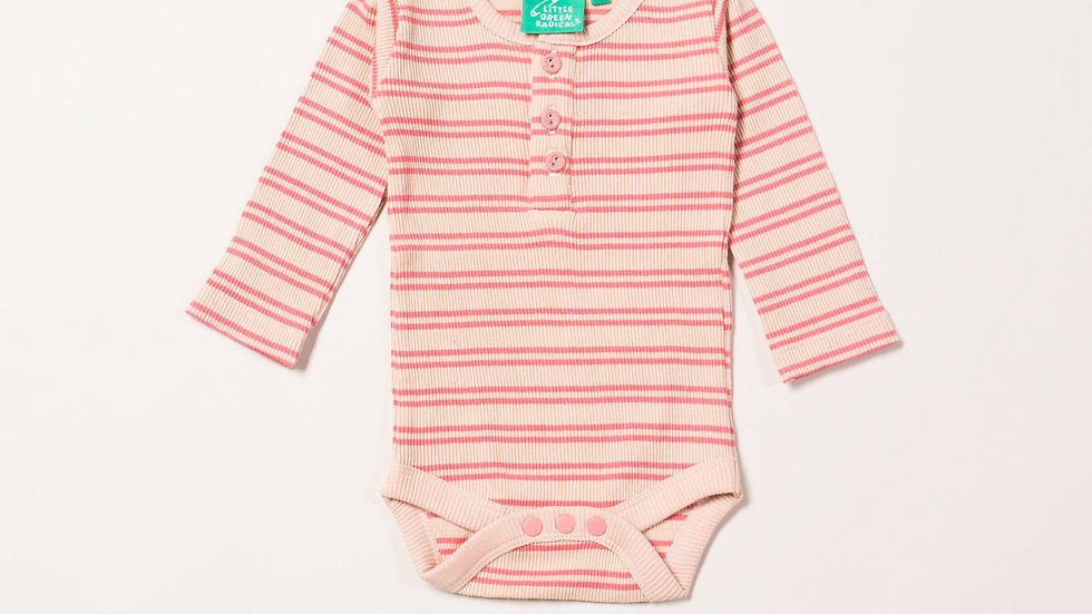 Little Green Radicals Long Sleeve Cotton stripe ribbed body