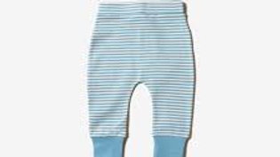 Little Green Radicals Cornish Blue and Cream Stripe Wiggle Bottoms