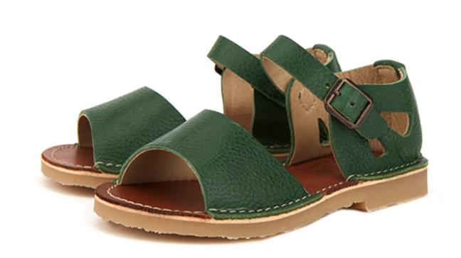 Young Soles of London Pea Green Mavis Sandal