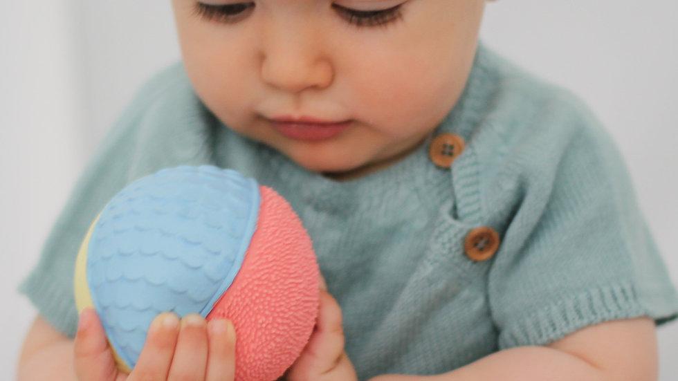 Pastel Sensory Rubber Ball Teether