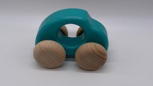 Blue Beetle Wooden Car