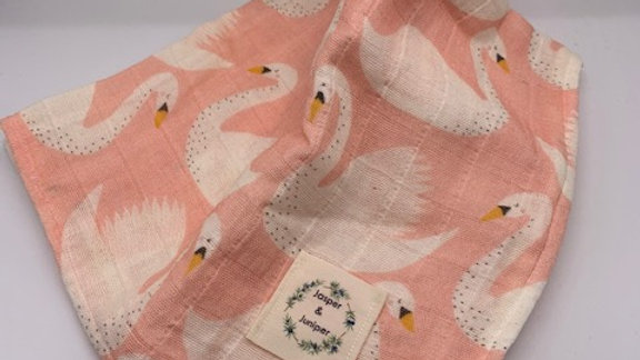Swans Organic Cotton Muslin Swaddle
