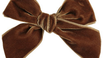 Condor Toffee Large Velvet Hairbow Clip
