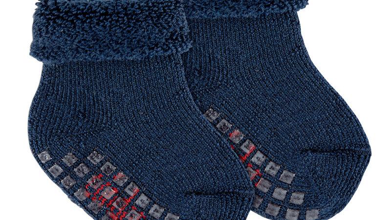 Condor Navy Merino Wool Blend Non Slip Socks