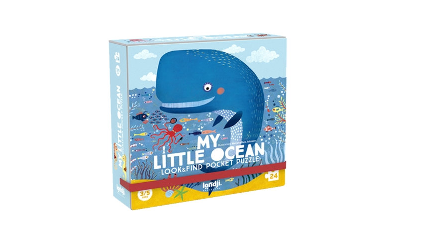 Londji My Little Ocean Look and Find Pocket Puzzle