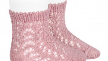 Rosa Open Work Cotton Ankle Sock