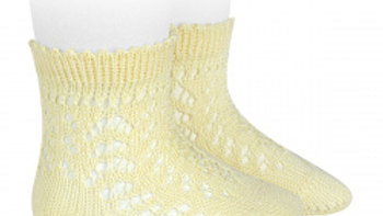 Butter Open Work Cotton Ankle Sock