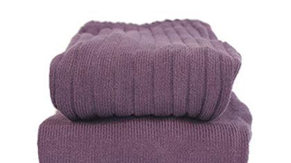 Condor Aubergine Cotton Rib Tights