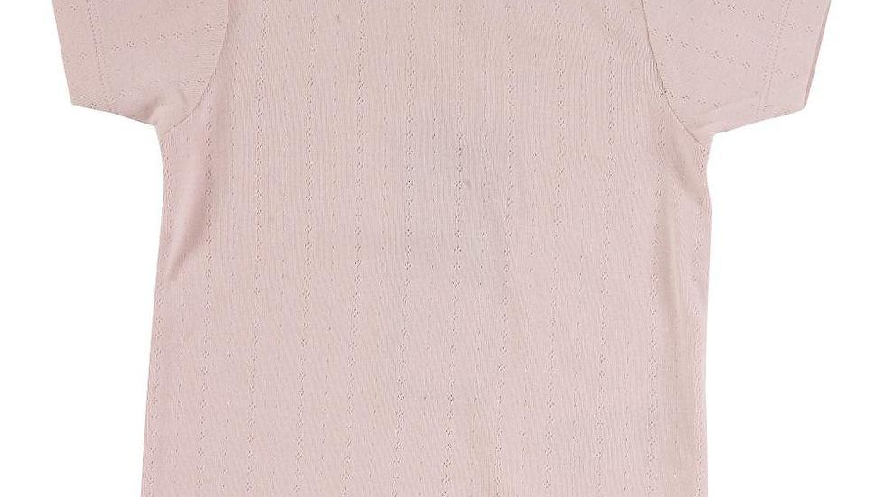 Pigeon Organics Pink Pointelle T-Shirt