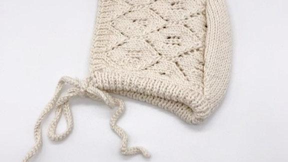 Penoora's Adalia Cotton Knitted Bonnet