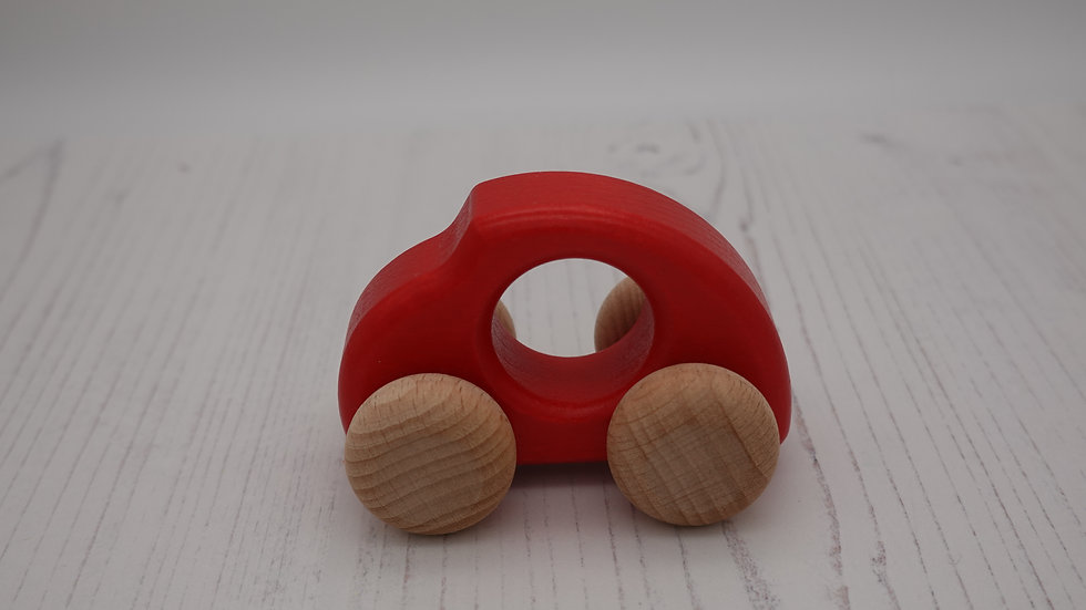 Red Beetle Wooden Car