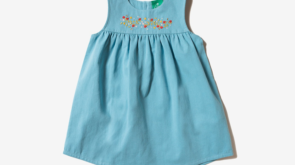 Little Green Radicals Embroidered Pinafore Dress