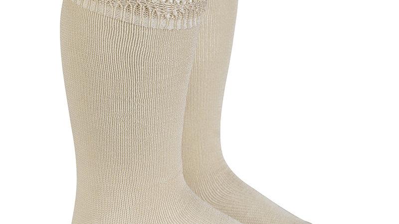 Linen Condor Cotton Open Cuff Work Knee High